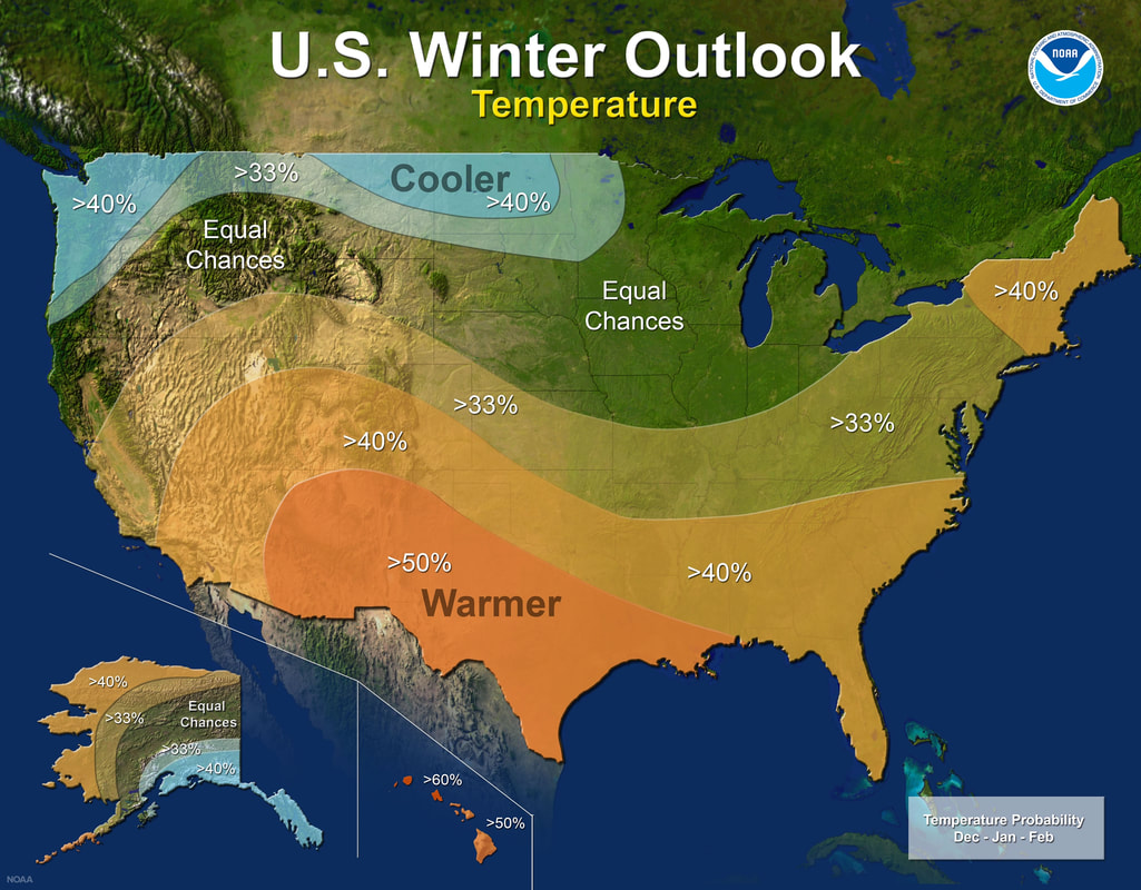 U.S. Winter Outlook by NOAA